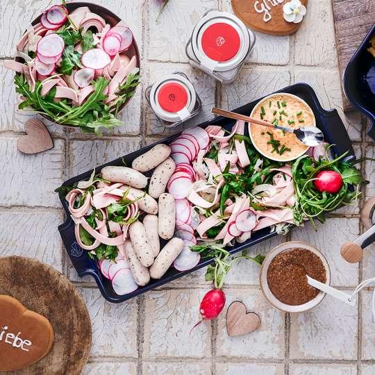 Bayrischer Wurstsalat mit Fenchel und Radieschen