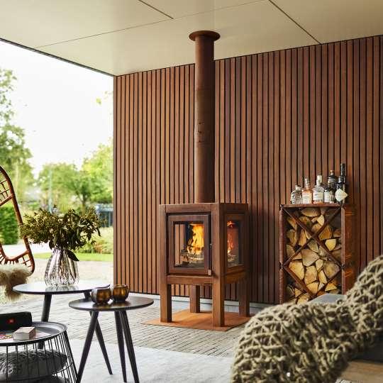 Stilvolle Gartenkamine von RB 73 - Modell Quaruba XL / Mood Terasse überdacht