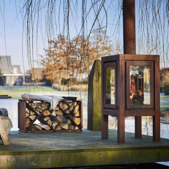 Stilvolle Gartenkamine von RB 73 - Modell Quaruba XXL / Mood See