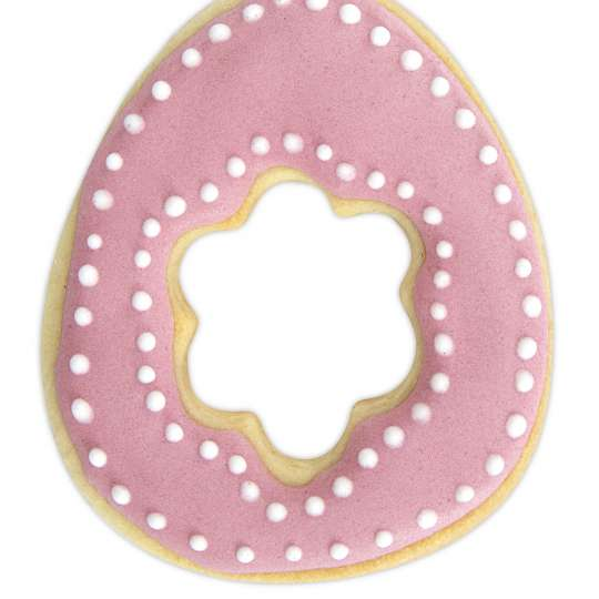 Staedter Ausstecher Ei mit Blume Art. Nr.217218 / Keks mit Zuckerguss