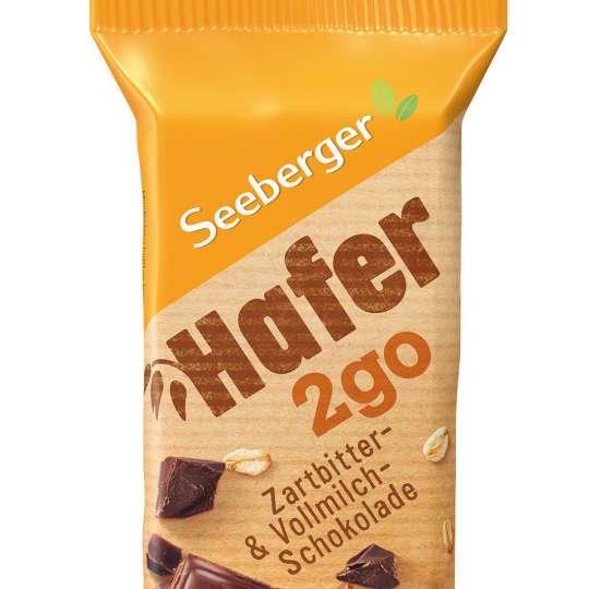Seeberger: Hafer2go / Riegel Zartbitter-/Vollmilchschokolade