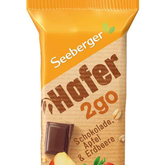 Seeberger: Hafer2go / Riegel Apfel / Erdbeere / Schokolade