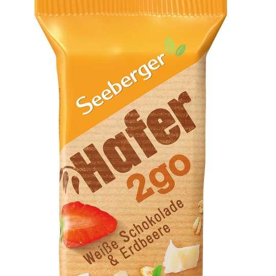 Seeberger: Hafer2go / Riegel weisse Schokolade / Erdbeere