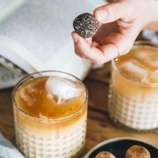 Seeberger: Bites2go / Mood Iced Chai Latte