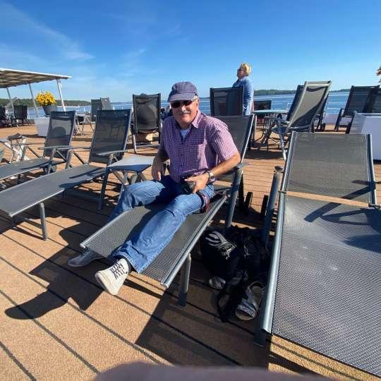 Entspannt auf dem Sonnendeck der Junker Jörg... mit richtig viel Platz