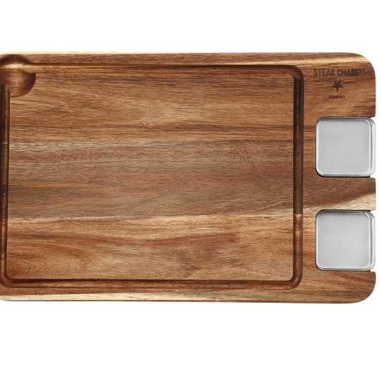 Eating Board: Ein edles Holzbrett für Steaks mit Saucieren 10-5020