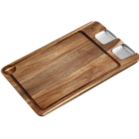 Eating Board: Ein edles Holzbrett für Steaks mit Saucieren