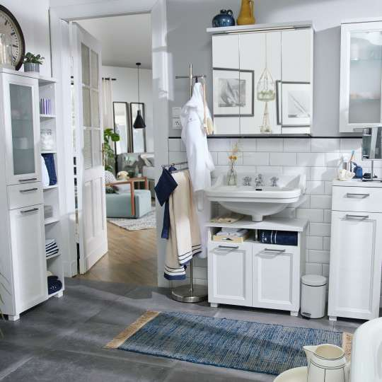 TOM TAILOR Hamptons White Pine - Badmöbel im Landhausstil