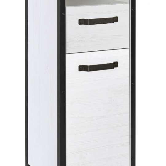 Tom Tailor SOHO White Pine Hochschrank mit Türen & Schublade