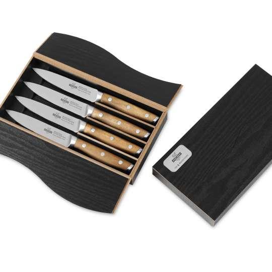 Tecpoint Steakmesser-Set 4 MUSKETEERS in Geschenkbox