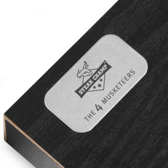 Tecpoint Steakmesser-Set 4 MUSKETEERS Geschenkbox Detail
