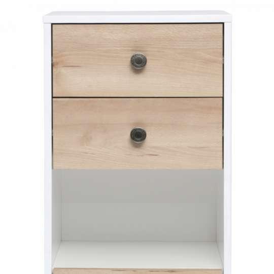 Tom Tailor Home Westcoast Wood White Highboard mit Tür & Schubläden