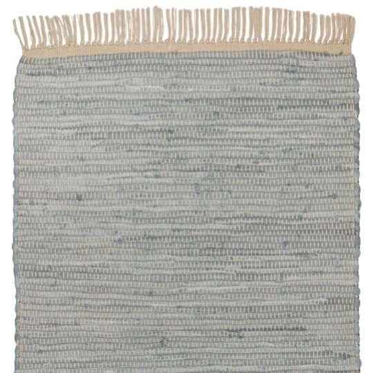 Tom Tailor Home Cotton Colors flacher Teppich grau-beige
