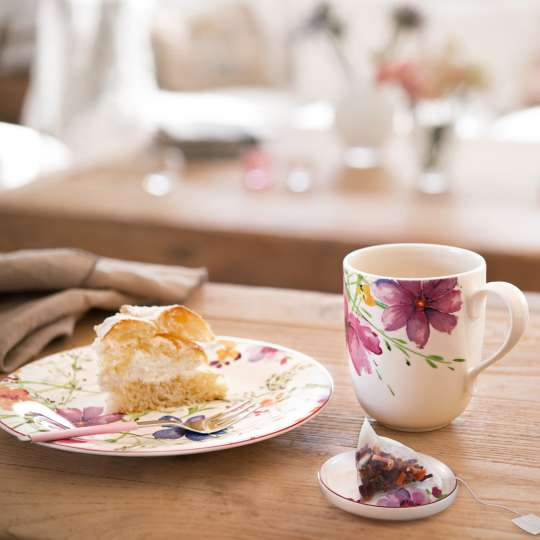 Villeroy und Boch Mariefleur Tea Teller und Henkelbecher Milieu