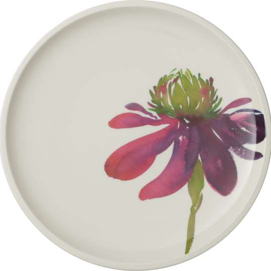 Artesano Flower Art: Teller mit Blume, Farbe: pink, lila - Art.-Nr. 1042512620