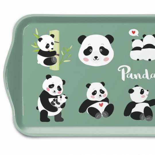 Ambiente: Pandabären Tablett-13713375 13x21 cm