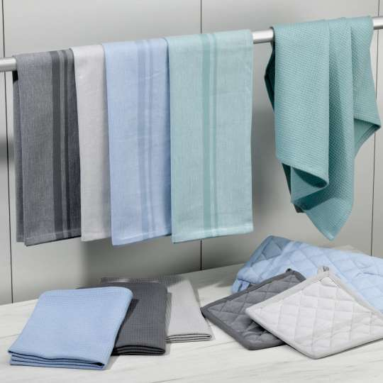 Kela: Blue is beautiful / Accessoires in der neuen Trendfarbe / Küchentextilien Tia