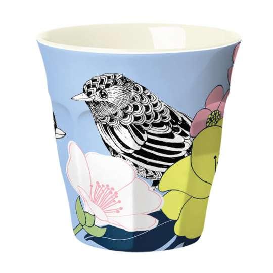 Mila: Kollektion Ginger / Thema 'Flowerbird' – Melamin Becher, 30660