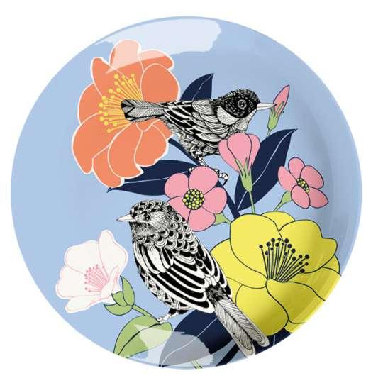 Mila: Kollektion Ginger / Thema 'Flowerbird' – Melamin Teller, 30661