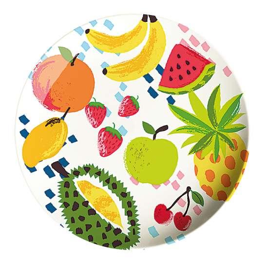 Mila: Kollektion Ginger / Thema 'Fruits' – Melamin Teller  30671
