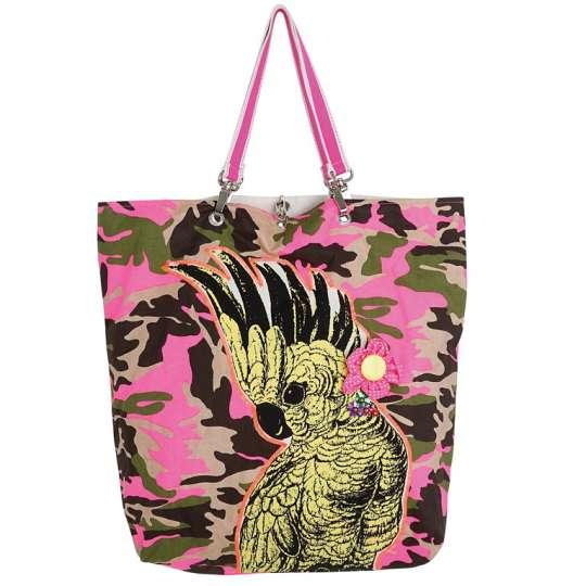 Mila: Kollektion Ginger / Thema 'Tropical'  Einkaufstasche Kakadu 30333