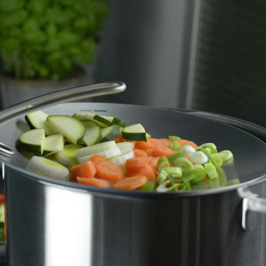 mono multitop Kochdeckel - perfekt zum Zwischenlagern von Lebensmitteln