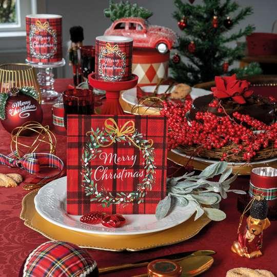 Tischdekor Christmas Plaid