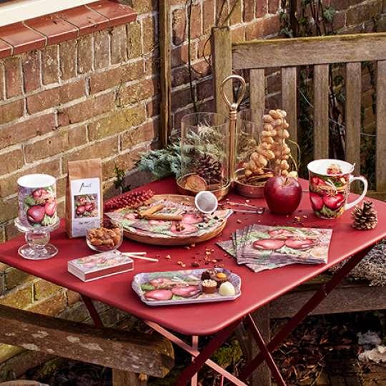 Tischdekor Winter Apples