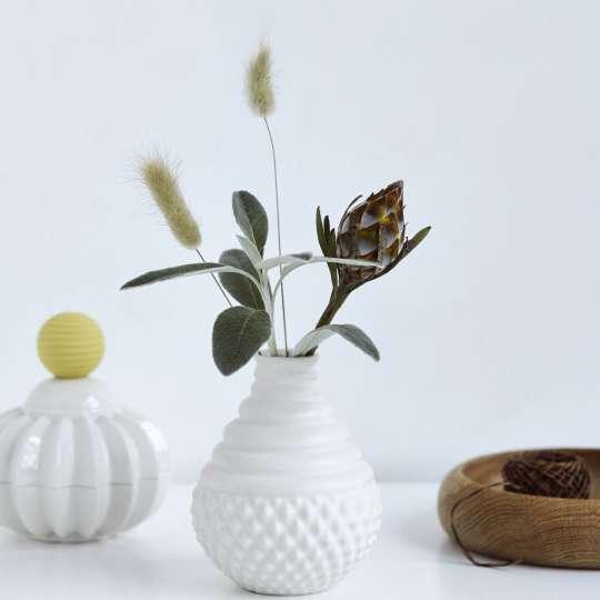 Dottir Vase und Dose