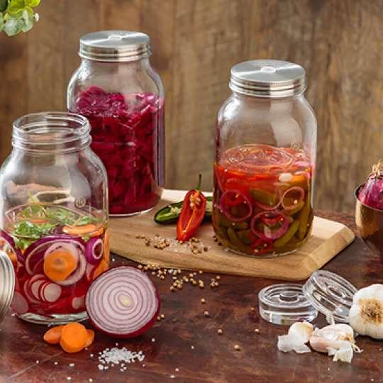 Kilner: Fermentiergläser-Set à 1 Liter - zum Fermentieren in kleinen Mengen
