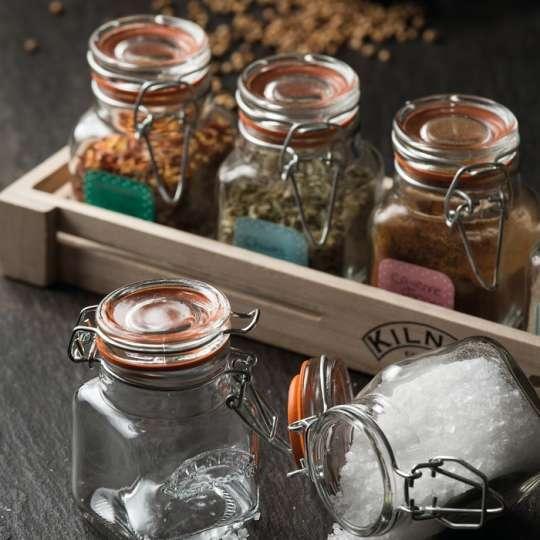 Kilner® Mini Bügelverschluss Gewürzglas im 6er Set