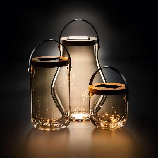 Krinner LUMIX Deco Glass Collection Gruppe beleuchtet