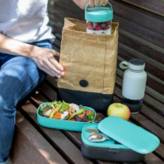 Lunchbag, 2-in-one Lunchbag und To-Go-Tasse von Lékué