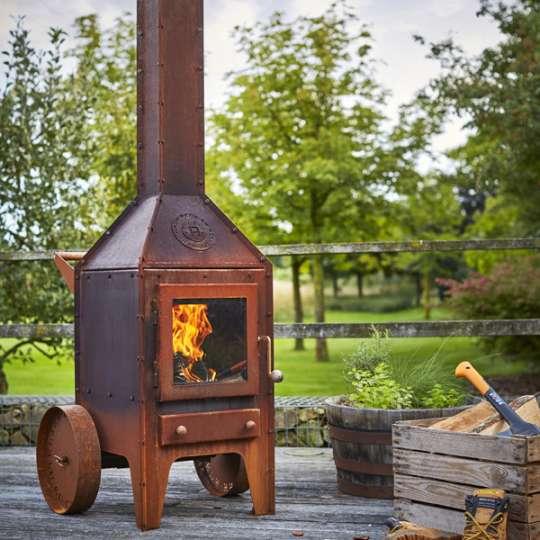 No terrace without a fire! Stilvolle Gartenkamine von RB 73 - Modell Bijuga
