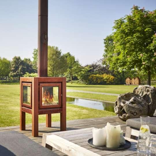 No terrace without a fire! Stilvolle Gartenkamine von RB 73 - Modell Quaruba