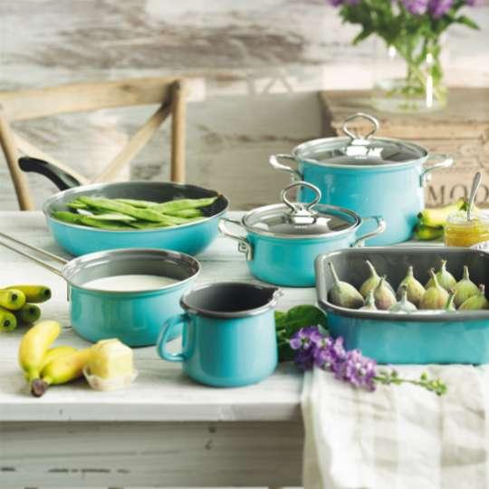 RIESS Nouvelle – Emaille Kochsets: Farbenfreude pur in neun Farbnuancen