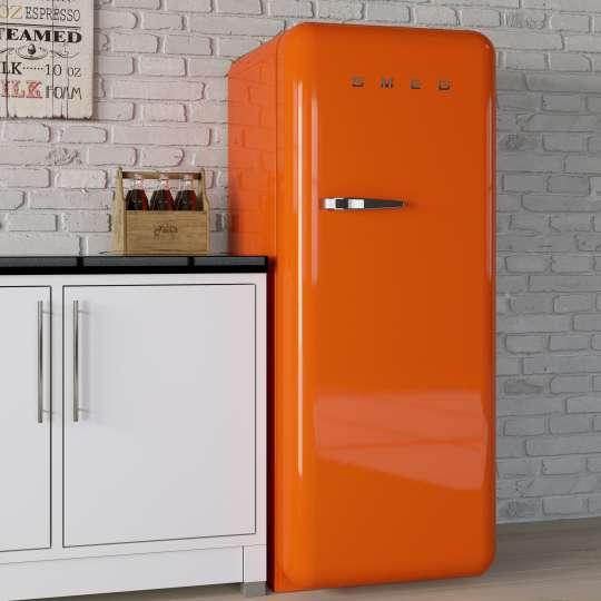 Smeg Kühlschrank orange Mood