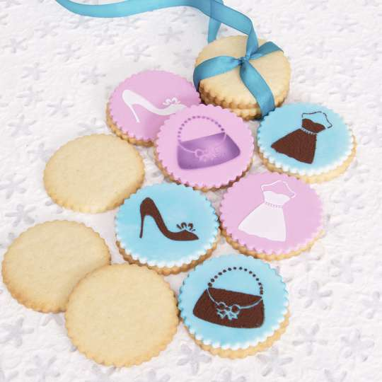 Deko-Kekse mit Mode-Motiven