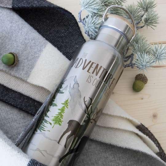 Die neue Edelstahl-Trinkflasche von ppd ist ein idealer Begleiter – nicht nur für Outdoorfreunde!