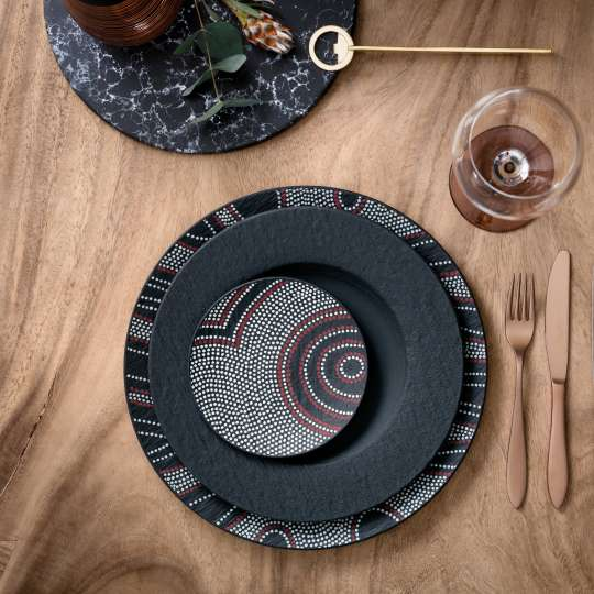 VuB-104250-104239 Manufacture Rock Desert Mix&Match Der Perfekte Tisch Platzteller Speiseteller Brotteller TopShot