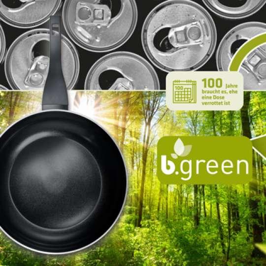 b.green! Kochgeschirr von BERNDES as 100% recycelten Dosen