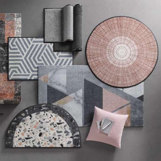 wash+dry - Kollektion 2020: Fußmatten in Pastellfarben