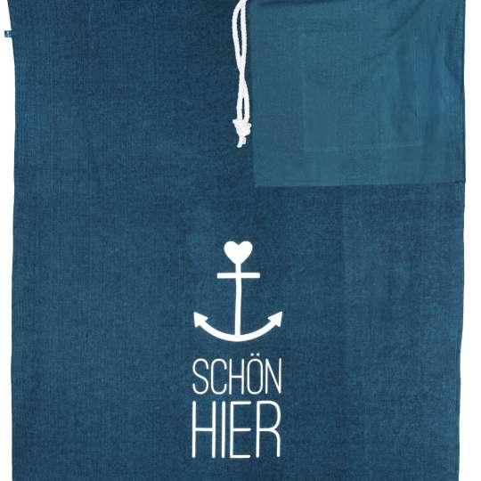 Räder - Serie: Meer als Worte / Badetuch 'Schön hier', blau