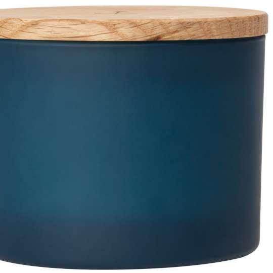 Räder - Serie: Meer als Worte / Duftkerze blau, mit Holzdeckel