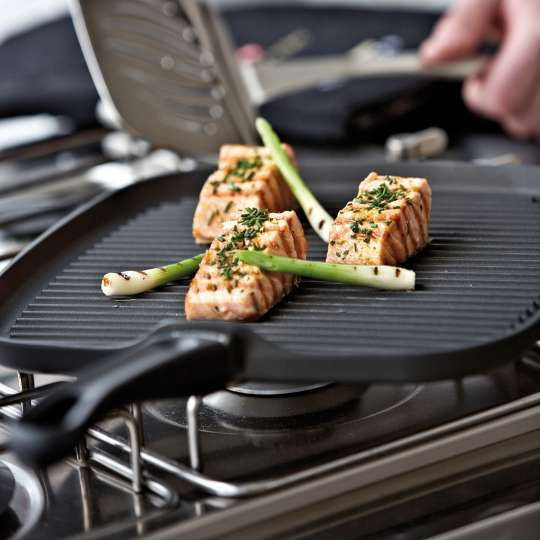 Scanpan: Serie Classic / Grillpfanne, Zubereitung Fisch