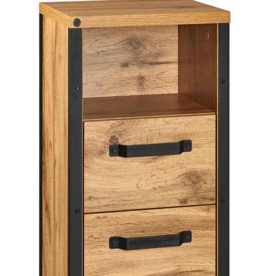 Tom Tailor SOHO Dark Oak Unterschrank mit Tür und Schublade