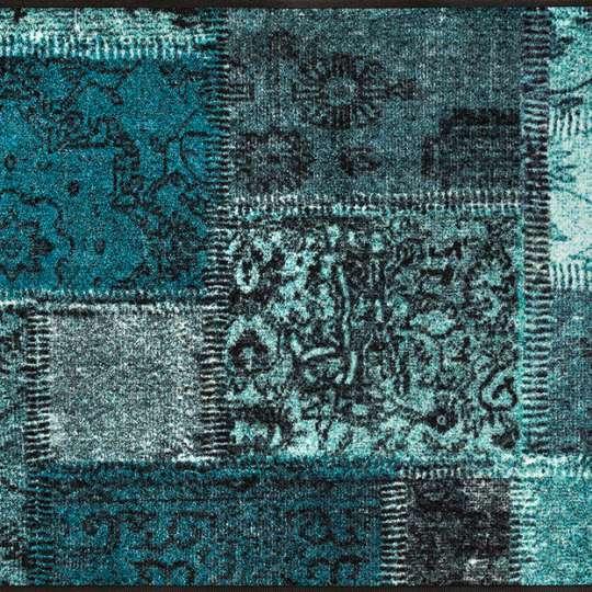 Wash+dry Vintage Patches türkis 75x190cm